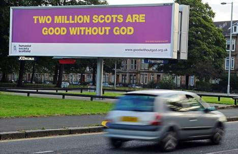 2 million Scots good without god
